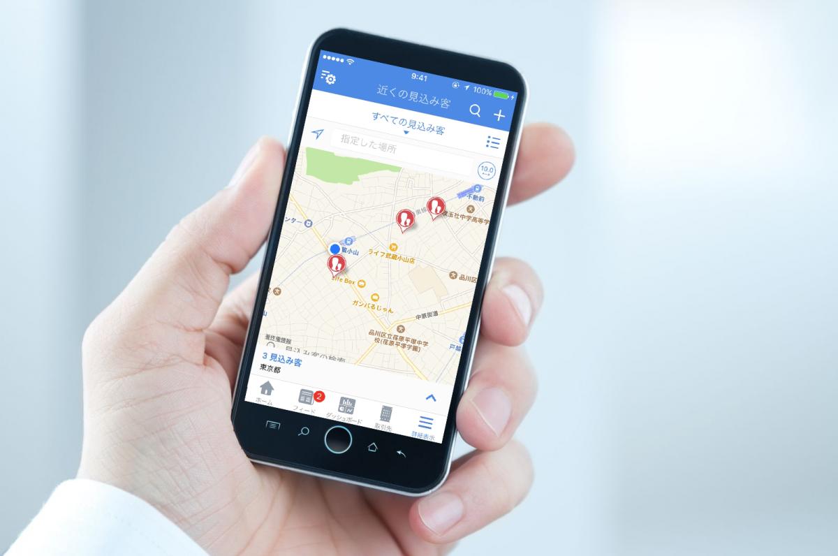 現在地付近の見込み客や取引先をマップ上に表示 – Zoho CRMのスマホアプリ(7)